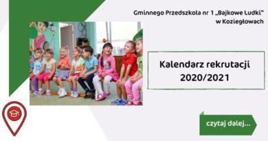 Kalendarz rekrutacji 2020/2021