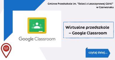 Wirtualne przedszkole – Google Classroom