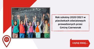 Rok szkolny 2020/2021 w placówkach oświatowych prowadzonych przez Gminę Czerwonak